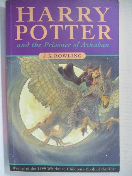 【書寶二手書T1/原文小說_HZF】Harry Potter and the Prisoner of Azkaban_JKRowling