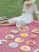 野餐墊野餐墊 戶外ins風草坪墊子加厚防潮墊春游野炊地墊拼接踏青野餐布 至簡元素