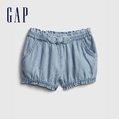 Gap嬰兒 柔軟仿牛仔布短褲 681732-淺色水洗