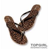 TOP GIRL清涼夾腳拖鞋 --金豹紋