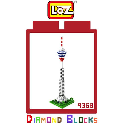 LOZ 迷你鑽石小積木 馬來西亞 吉隆坡塔 世界建築 樂高式 組合玩具 益智玩具 原廠正版
