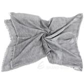 FABIANA FILIPPI 灰色拼接刷白圍巾/披肩  1640311-06