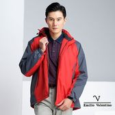 【Emilio Valentino】防風超潑水戶外機能外套 - 紅