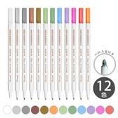 【 廣納 12色盒裝 金屬彩繪筆 圓頭 】 GuangNa Metallic Pen 水性 照片筆 菲林因斯特