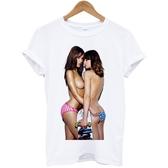 Skate Girl短袖T恤-白色 滑板街頭刺青裸女設計插畫潮流huf dope相片照片藝術390 gildan