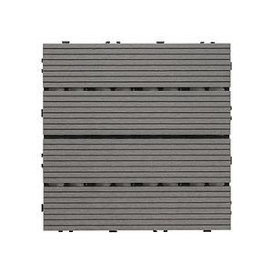 樂嫚妮 塑木地板 30x30cm 五款 9入 0.25坪深灰色