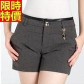 西裝短褲優雅高檔-個性皮帶拼接氣質女褲子5色66ai8【巴黎精品】