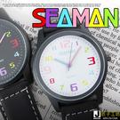 匠子工坊 【UQ0059】日韓繽紛時尚新寵 不規則俏皮數字刻度 麂皮手錶 女錶 中性錶