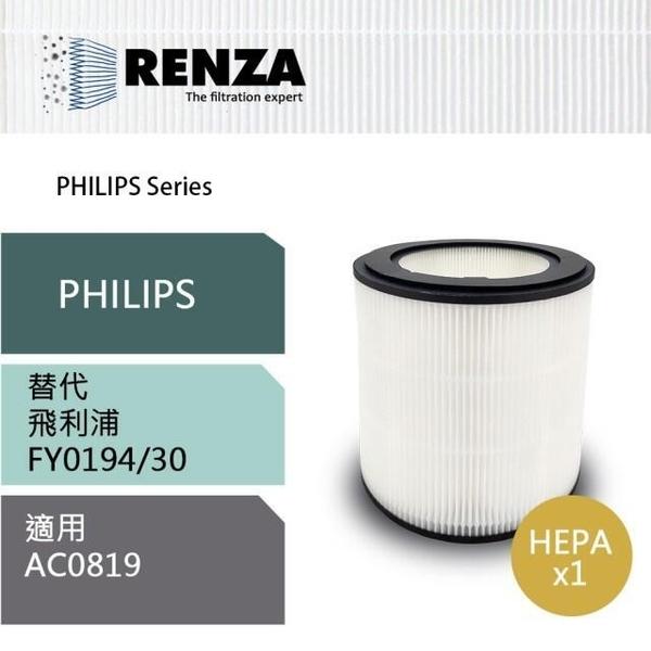 【免運費】 PHILIPS 飛利浦【RENZA】濾網 FY0194 奈米級HEPA濾芯 (適用 AC0819 空氣清淨機)