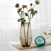 花瓶 歐式彩色玻璃花瓶 巴黎春天