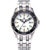 Olympia Star 奧林比亞之星 神盾系列極限氚氣石英腕錶-白