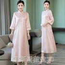 2021新款女裝旗袍式改良旗袍中國風連身裙夏復古漢元素茶服女文藝 凱斯盾