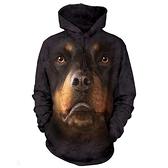 摩達客-(現貨)美國進口The Mountain 挪威納犬臉 長袖連帽T恤