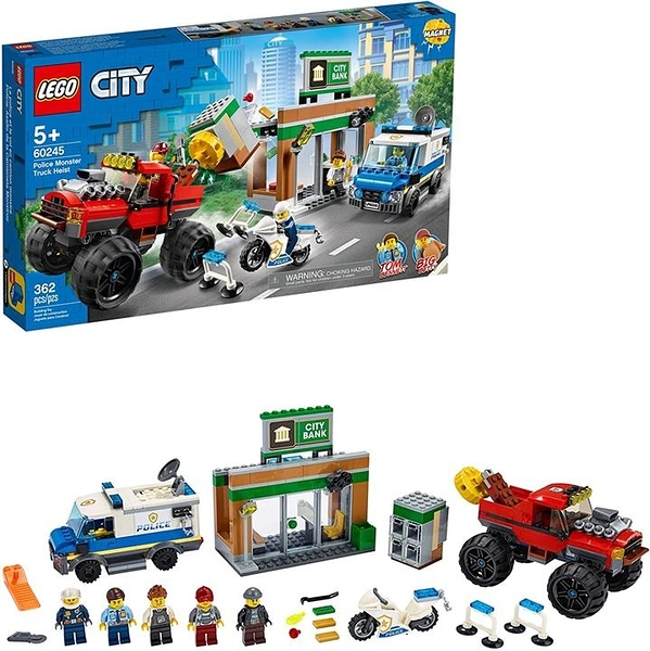 LEGO 樂高 City Police Monster Truck Heist 60245 Police Toy Cool Building Set for Kids 2020新(362件)