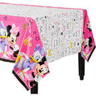 迪士尼 餐具 塑膠桌巾-米妮快樂幫手