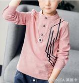 童裝男童長袖T恤春秋裝季新款兒童中大童韓版上衣POLO潮A 莫妮卡小屋