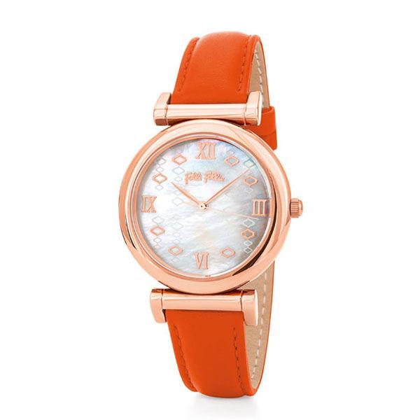 FOLLI FOLLIE Mod Princess系列廣告款腕錶 WF19R001SPS 橘色