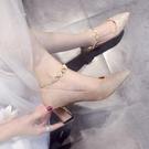 高跟鞋 水晶鞋婚鞋女2021年新款主婚紗粗跟金色新娘鞋平時可穿伴娘高跟鞋【快速出貨八折搶購】