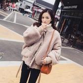 飛行外套 冬裝女好康推薦新款正韓寬鬆小個子學生迷你短款棒球服羊羔毛毛絨外套