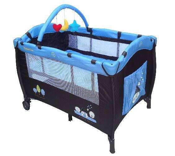 [家事達] Mother's Love-CL20  雙層遊戲床-藍屋   有活動側門.附玩具架.蚊帳