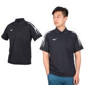 MIZUNO 男短袖POLO衫(免運 翻領 高爾夫 網球 美津濃 ≡排汗專家≡