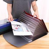 風琴包A4多層文件夾商務男士手提文件包資料收納袋學生試捲夾igo        檸檬衣舍