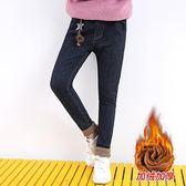【新年鉅惠】女童加絨牛仔褲2019新款童裝加厚秋冬季外穿洋氣時尚保暖兒童棉褲