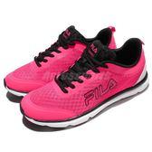 【粉粉DER】FILA 慢跑鞋 J319R 低筒 粉紅 黑 白底 運動鞋 輕量 基本款 女鞋【PUMP306】 5J319R240