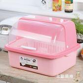 瀝水架廚房大號塑料碗櫃帶蓋放碗箱瀝水碗架碗筷收納盒碗碟餐具籠整理架xw