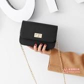 小方包 包包2019韓版新款chic鍊條小方包單肩斜背包時尚鎖扣女包迷你小包 3色