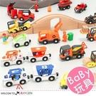 多款積木聲光磁性小火車組合玩具 警車 消...