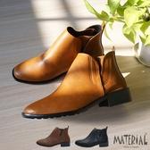 短靴 小方頭側V彈性帶短靴 MA女鞋 T6192