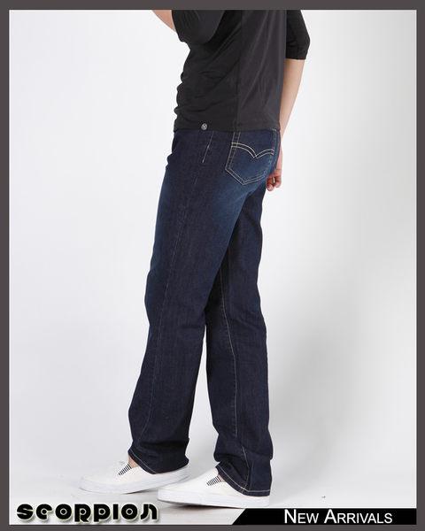 涼感伸縮直筒褲‧台灣製 【天蠍】(5059-57深藍)