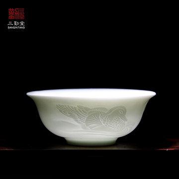 浮雕花紋鴛鴦套杯