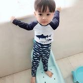 韓國兒童防曬男童長袖泳衣分體寶寶中大童長短褲速幹沖浪服潛水服 美好生活居家館