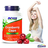 【即期2019/6/30(剩餘1瓶,賣完為止)】NOW健而婷-蔓越莓植物膠囊食品(100顆/瓶)x1