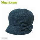 【Mountneer 山林 羊毛保暖貝雷帽《灰藍》】12H13/貝雷帽/羊毛帽/休閒帽