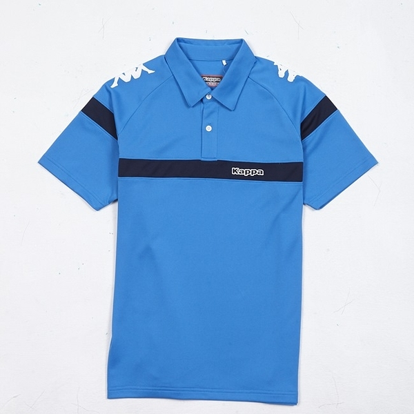 KAPPA義大利 時尚型男吸濕排汗POLO衫 義大利藍 丈青