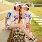 親子裝一家三口四口套裝夏季高端母女母子裝洋氣t恤【聚可愛】