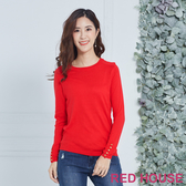 Red House 蕾赫斯-素面釘釦針織上衣(共6色)