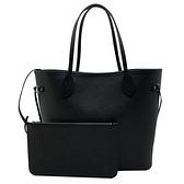 【台中米蘭站】全新品 Louis Vuitton EPI NEVERFULL MM 手提托特購物包(M40932-黑)