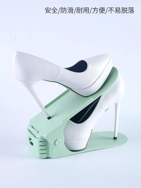 鞋架收納神器雙層鞋托鞋子盒網紅門后一體式省空間置