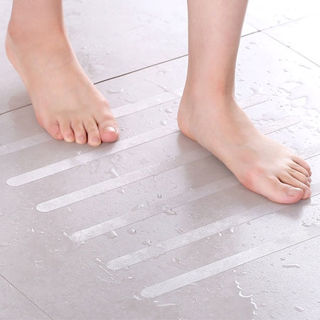 透明浴室防滑貼條 5入 防滑條 止滑條 防滑貼片 防滑膠帶 防滑貼條 浴室 廁所 樓梯 廚房