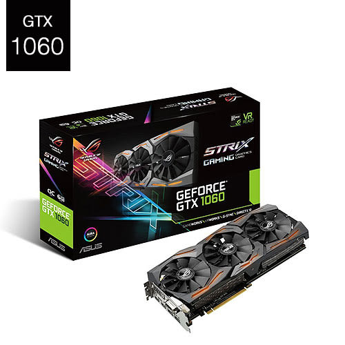 ASUS 華碩 GeForce ROG STRIX GTX1060 O6G GAMING 顯示卡