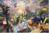 【拼圖總動員 PUZZLE STORY】美女與野獸 日系/Beverly/Thomas Kinkade X 迪士尼/1000P