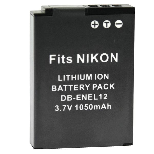 攝彩@充電器+佳美能Nikon EN-EL12鋰電池套組 S1000pj,S6000,S610,S610C,S620