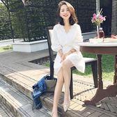 小香風仙女裙子蕾絲白色連衣裙女