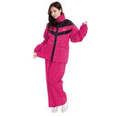 RX-1202 日式時尚二件式防風雨衣(配色套裝)(甜心粉紅)