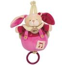 法國娃娃DOUDOU(桃子紅)扣子長耳兔音樂鈴