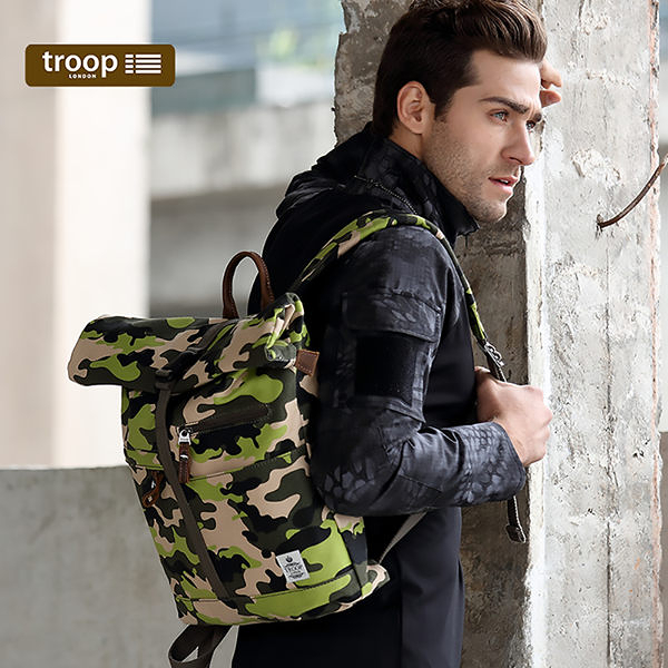 【TROOP】都會時尚URBAN雙肩包/TRP0407CF(小)